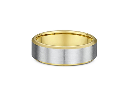 Bevelled Edge Mens Wedding Ring