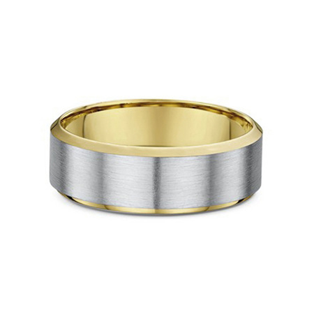 Bevelled Edge Mens Wedding Ring