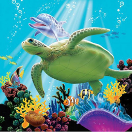 Beverage under the sea napkins