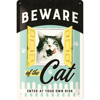 Beware Of The Cat Enter At Own Risk
