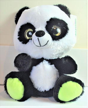 Big Eyes Panda Soft Toy: Green Feet