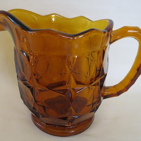 Big heavy amber jug