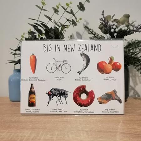 BIG in New Zealand A4 Print