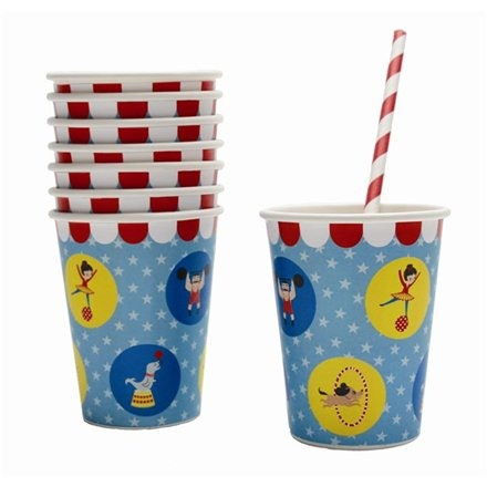 Big Top Circus Paper Cups x 8