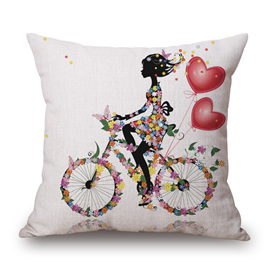 BIKE, BUTTERFLIES & BALLOONS CUSHION COVER
