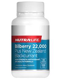 Billberry 22,000 plus NZ Blackcurrant - 60 Caps