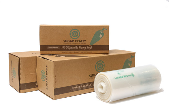 """Biodegradable Piping Bags pkt 100 12"""""""