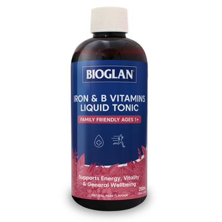 Bioglan Iron & B Vitamins Liquid Tonic 250mL