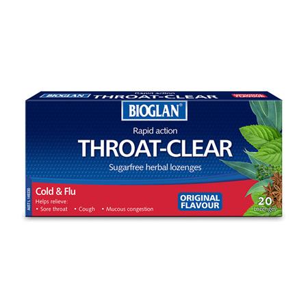 Bioglan Throat Clear Lozenges, Original 20 Pack