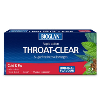 BIOGLAN THROAT CLEAR ORIGINAL 20 LOZENGES