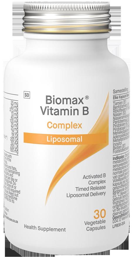 Biomax Activated B Complex 30 Liposomal veggie capsules