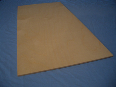 Birch Ply Sheet  3/16 x 300mm x 600mm