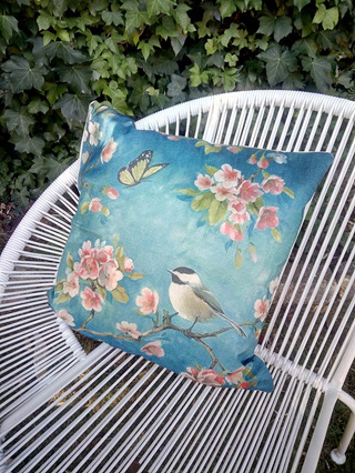 BIRD & BUTTERFLY CUSHION COVER
