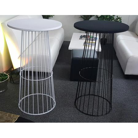 Bird Cage  Bar Leaner Gloss White 70cm Round