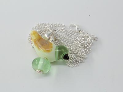 Bird pendant - Pale Green