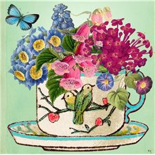 Bird Teacup card