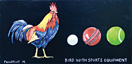 Bird with Sports Equipment
