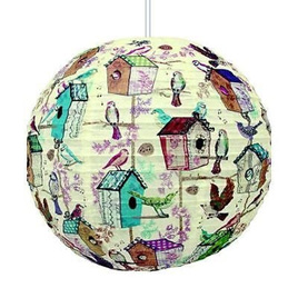 Birdhouse Paper Lampshade