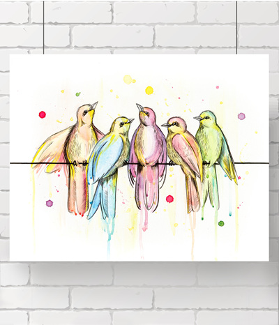 Birdies - the original painting