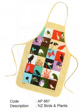 Birds and Plants Apron