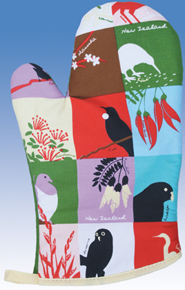 Birds and Plants Oven Glove