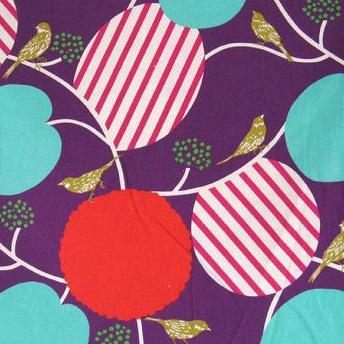 Birds & Bush - Purple