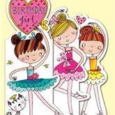 Birthday girl ballerina card