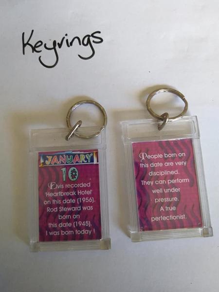 Birthday Keyrings - Jan 10