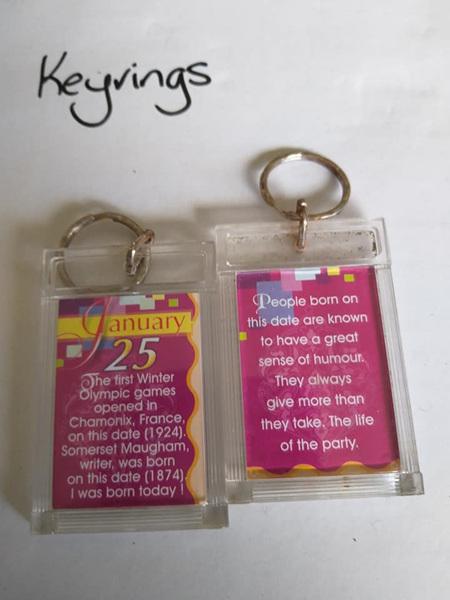 Birthday Keyrings - Jan 25
