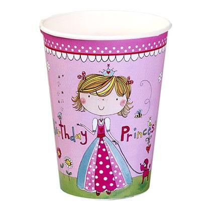 Birthday Princess Party Cups x 8