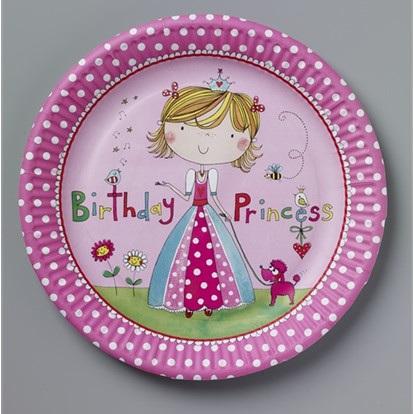 Birthday Princess Party Plates x 8
