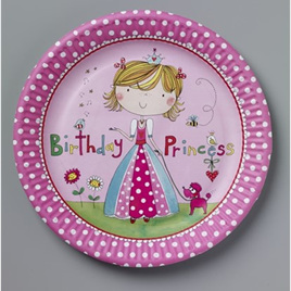 Birthday Princess Party Plates x 8