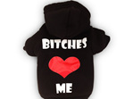 Bitches love me black dog hoodie
