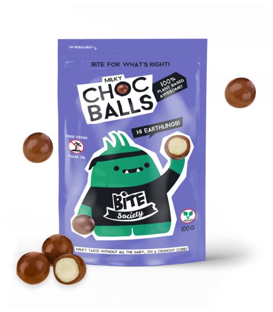 Bite Society Milky Choc Balls 100g