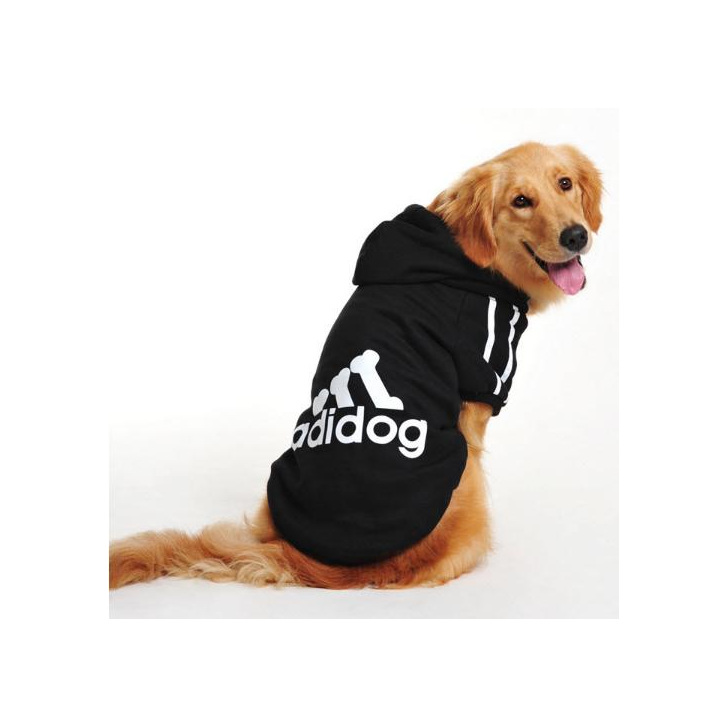 black adidog hoodie