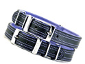 Black and Purple Leather Dog Collar by Rogue Royalty