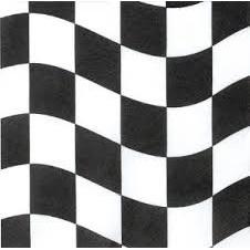 Black and White Check Napkin