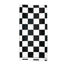 Black and White Check Table Cover paper