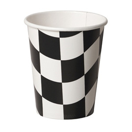 Black and White Checkered Cups