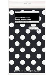 Black and White Dots Table Cover