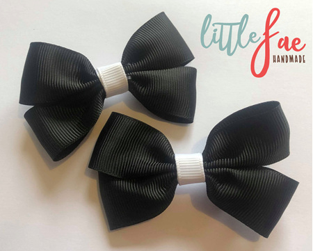 Black and white hairbows