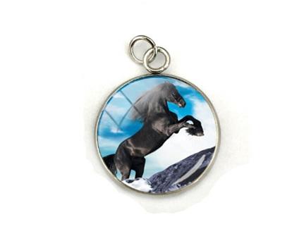 Black Beauty Horse Pendant