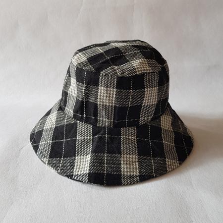 Black Checks Bucket Hat - Adult size large