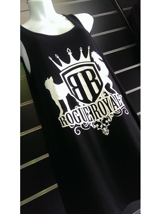 Black cotton singlet by rogue royalty