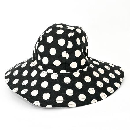 Black Dots Sombrero Hat - Adult size large