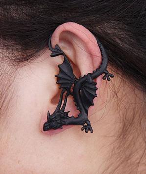 Black Dragon Ear Cuff