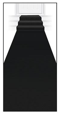 Black  floor/aisle runner