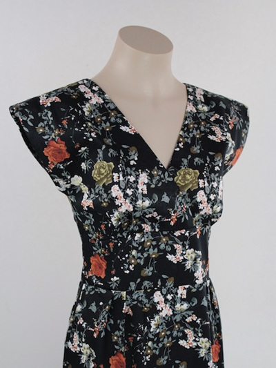 Black floral Jeanie dress