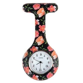 Black Floral Nurse Watch