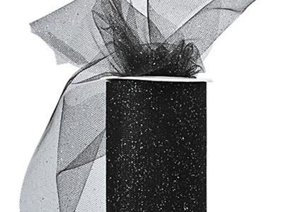 Black glitter tulle